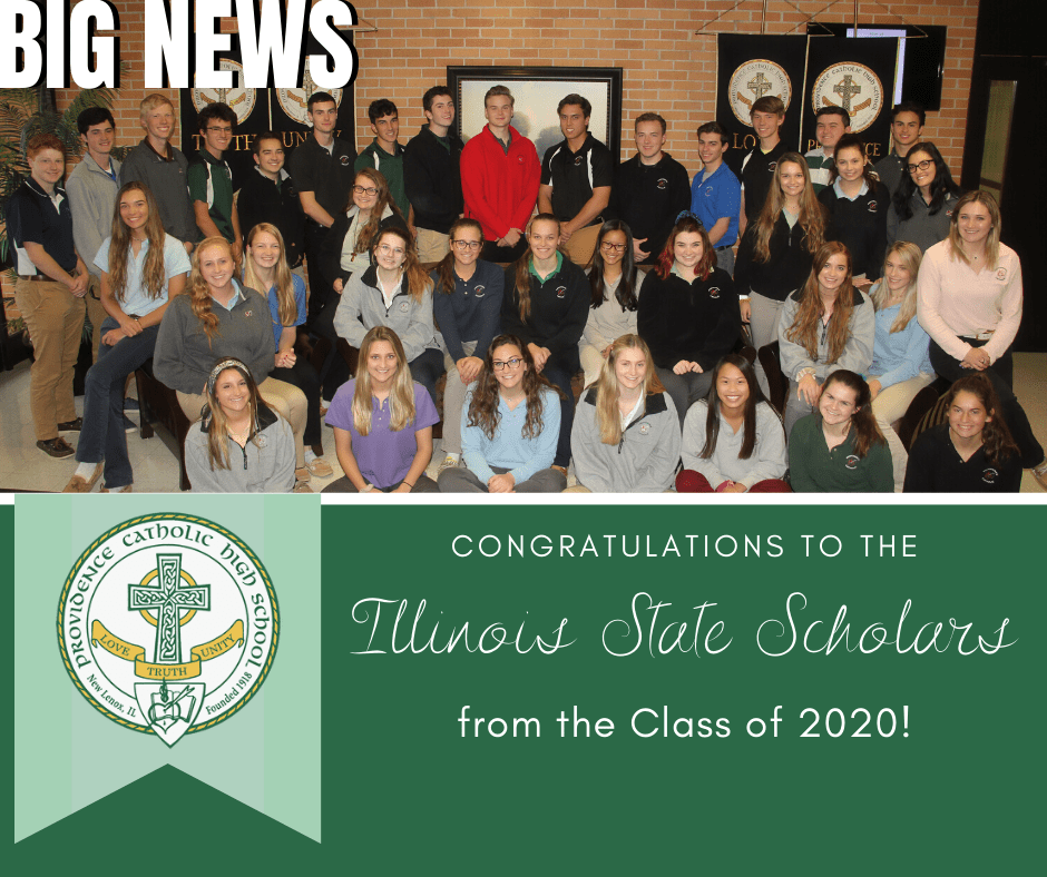 38 Providence Catholic Students Recognized as 2019-20 Illinois State Scholars